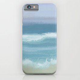 Seashore With Beautiful Breaking Waves iPhone Case