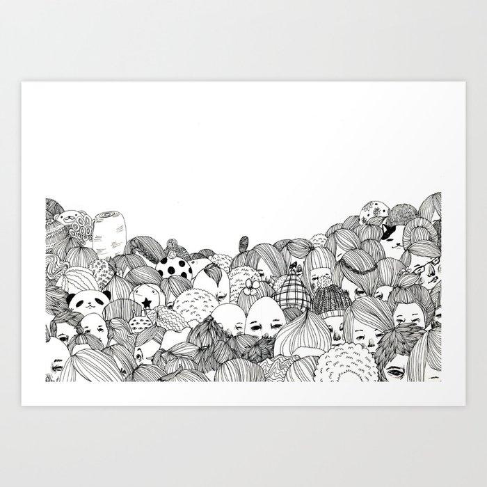 Human Jungle  Art Print