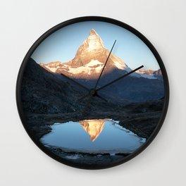 Matterhorn Sunrise Wall Clock