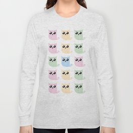 Pastel Mer-owls Long Sleeve T-shirt