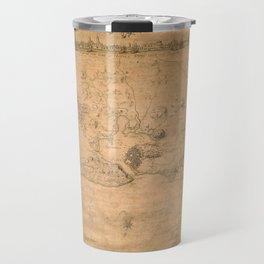Map of Havana 1762 Travel Mug