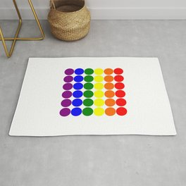Round circles with gay rainbow colors Rug