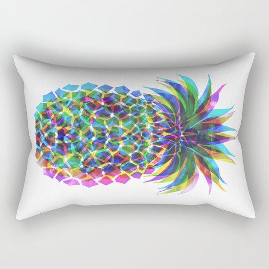 Pineapple CMYK Rectangular Pillow
