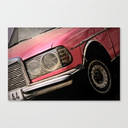 Pink Benz Canvas Print
