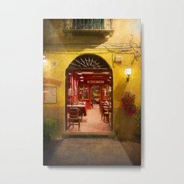 Lucca Cafe Metal Print