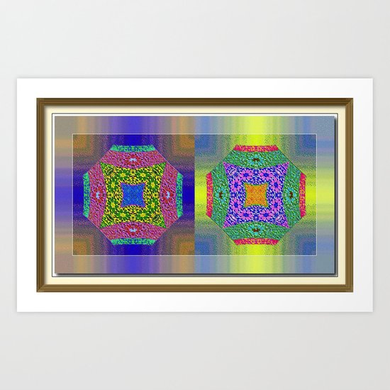 Twin Mandalas Art Print