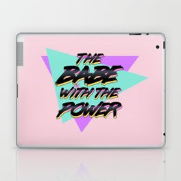 Babe With The Power - Black! Laptop & iPad Skin