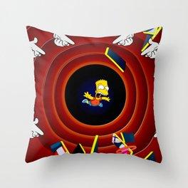 Simpsons Pop Art Throw Pillow