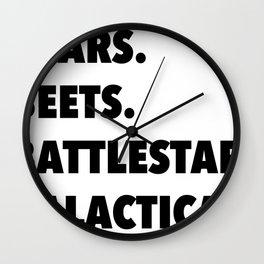 Bears, Beets, Battlestar Galactica Wall Clock