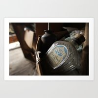 whisky Art Prints featuring Whisky Bottle by Rick Allen