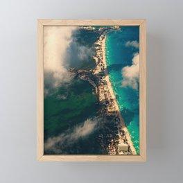 Fly; Along The Sandline Framed Mini Art Print