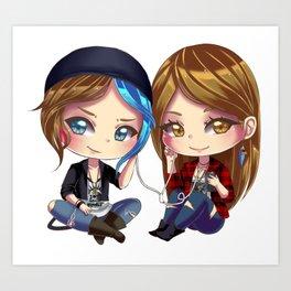 Chloe x Rachel Art Print
