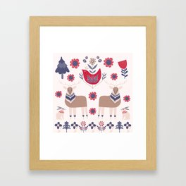 Scandinavian Winter Pattern Beige #society6 #buyart Framed Art Print