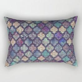 Moroccan Tile Design In Retro Colors Rectangular Pillow