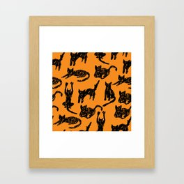 Cats Sketch Framed Art Print