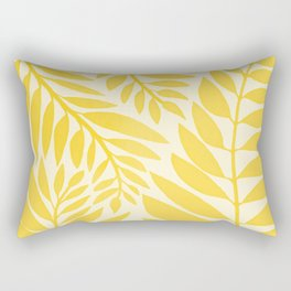 Golden Yellow Leaves Rectangular Pillow