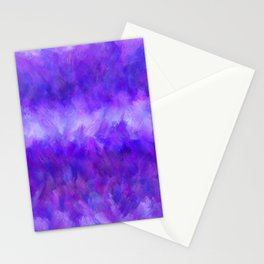 Dappled Blue Violet Abstract Stationery Cards