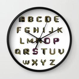 Alphabet - OPS! Wall Clock