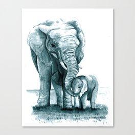 My Little Peanut (Elephants) Canvas Print