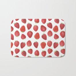 Strawberries watercolor Bath Mat