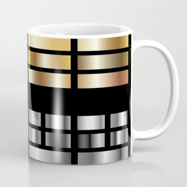Or et Argent en rectangle Coffee Mug
