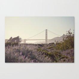 Glowy Golden Gate Canvas Print