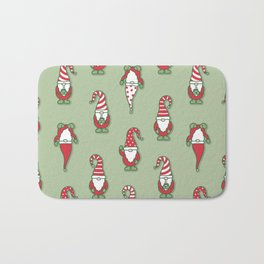 North Pole Gnomes (Green) Bath Mat