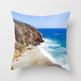Malibu Beach Photography Throw Pillow