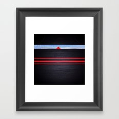 The Light of the Triangle Framed Art Print