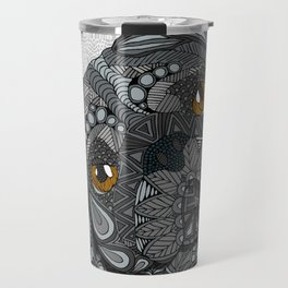 Black Pug 2016 Travel Mug