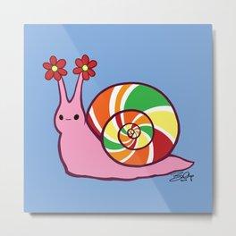 Sweetie Candie Snail Metal Print