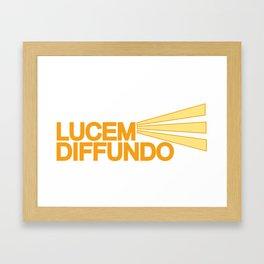 Lucem Diffundo Framed Art Print