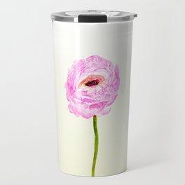 pink cultivited buttercup, Ranunculus Travel Mug
