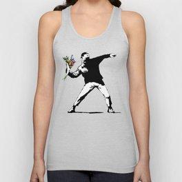 Banksy Flowers Flower thrower Unisex Tank Top