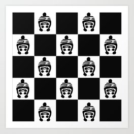 Panda Chess Art Print