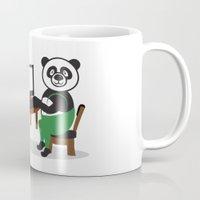 teacher Mugs featuring Panda Teacher by WCVS Online