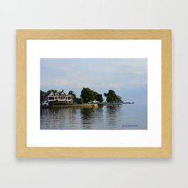 Crooked Boathouse Framed Art Print