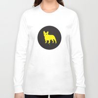 bulldog Long Sleeve T-shirts featuring Bulldog by Gonzi