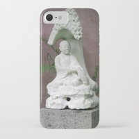 buddah iPhone & iPod Cases featuring Sitting Buddah by WiccedArt