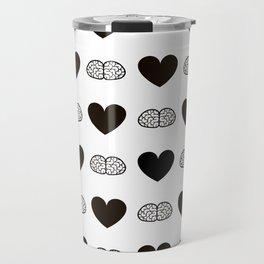 Hearts & Brains / S01-BW Version Travel Mug