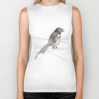 crow Biker Tanks featuring Crow by Dream Of Forest