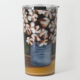 Bouquet of cotton in tin can Travel Mug