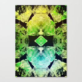 Green Mandala-Heart Chakra Canvas Print