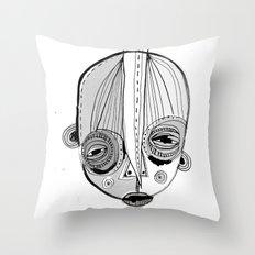 'Face II' Throw Pillow