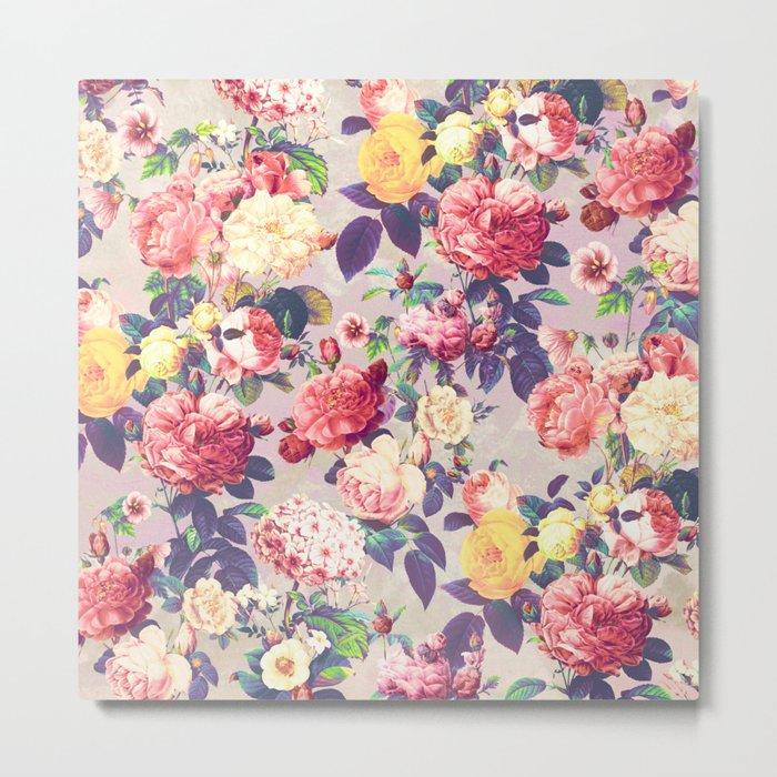 Floral G Metal Print