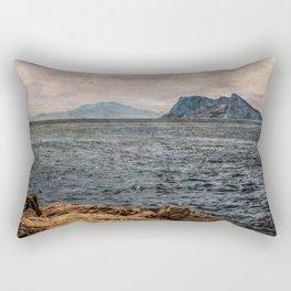 A view to the Rock of Gibraltar Rectangular Pillow