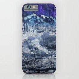 Mountain valley Auroras iPhone Case