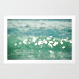 Glittering Wave Art Print