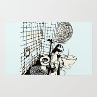 toilet Area & Throw Rugs featuring TOILET CLEANING by Sofia Youshi