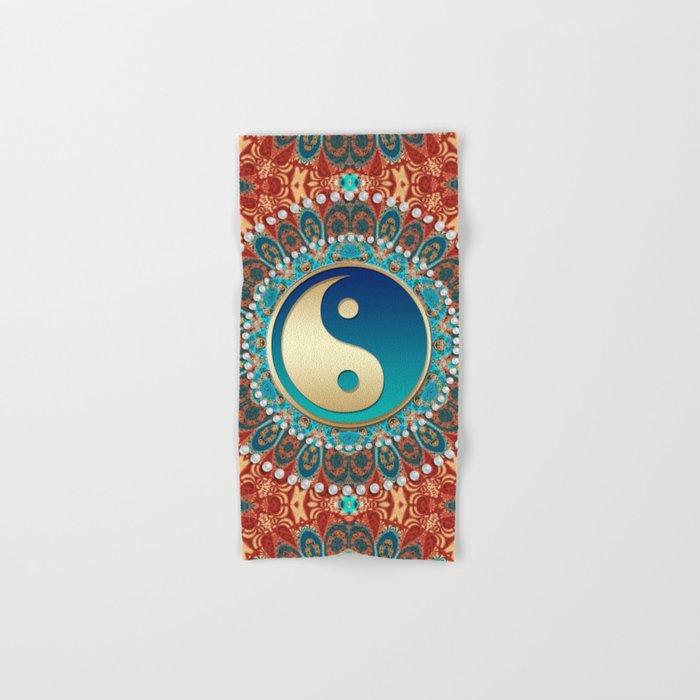 Bohemian Batik Yin Yang Hand & Bath Towel